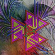 Triple Harmony - Square Version Art Print