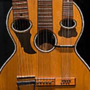 Triple-neck Instrument Art Print