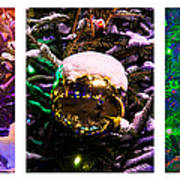 Triptych - Christmas Decoration - Featured 3 Art Print