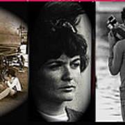 Triptych Jackie Sharkey Center Panel Cinco De Mayo Nogales Sonora 1969-2011 Art Print