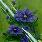 Floral Triptych 1 Art Print