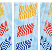 Triptych Sunrise 1 Art Print