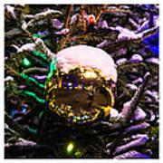 Triptych - Traffic Lights Christmas - Featured 2 Art Print