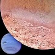 Triton And Neptune Art Print