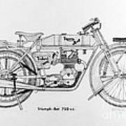 Triumph-bat 750c.c. Art Print