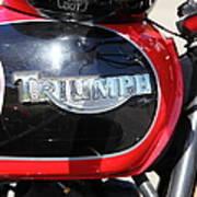 Triumph Motorcycle 5d28104 Art Print