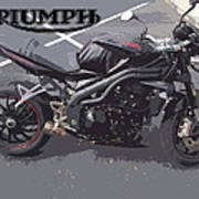 Triumph Motorcycle Art Print