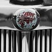 Triumph Roadster Emblem Selective Color Art Print