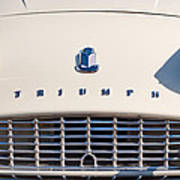 Triumph Tr3 Grille Emblem Art Print