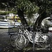 Trois Bikes Art Print