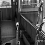 Trolley 28 Leaver Black And White Art Print