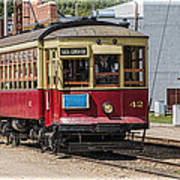 Trolley Car At The Fort Edmonton Park Art Print
