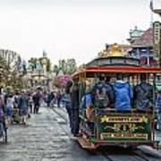Trolley Car Main Street Disneyland 01 Art Print