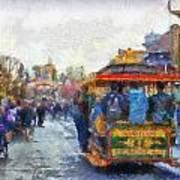 Trolley Car Main Street Disneyland Photo Art 02 Art Print