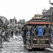 Trolley Car Main Street Disneyland Sc Art Print