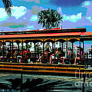 Trolley Stop Art Print