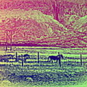 Now And Then You Dream Of The Old Fields Back Home  Art Print