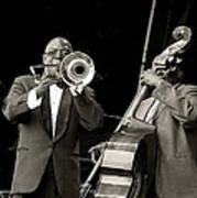 Trombone And Bass Art Print by Tony Reddington