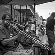 Trombone In New Orleans 2 Art Print by David Morefield