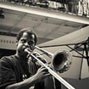 Trombone In New Orleans Art Print by David Morefield