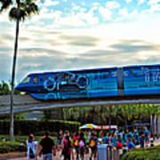Tron Monorail At Walt Disney World Art Print by Thomas Woolworth