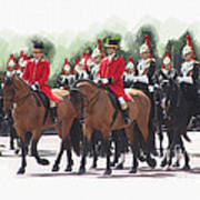 Trooping Of The Colour Art Print