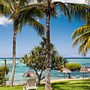 Tropical Beach. Mauritius Art Print