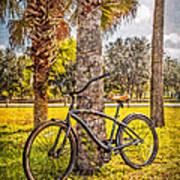 Tropical Bicycle Art Print