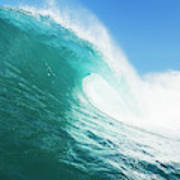 Tropical Blue Ocean Wave Art Print