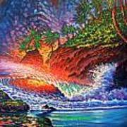 Tropical Color Mosaic Art Print
