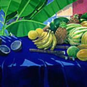 Tropical Fruit Art Print by Lincoln Seligman