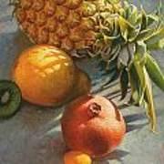 Tropical Fruit Art Print