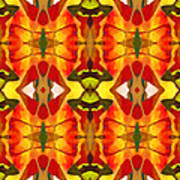 Tropical Leaf Pattern 2 Art Print