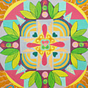 Tropical Mandala Art Print
