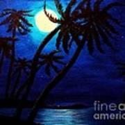 Tropical Moon On The Islands Art Print