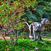 Tropical Mountain Lion Art Print