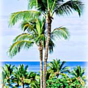 Tropical Palm Trees In Hawaii Art Print