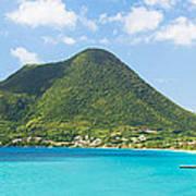 Tropical Panorama In The Caribbean Art Print
