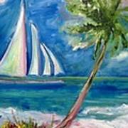 Tropical Sails Art Print