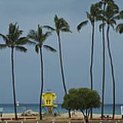 Tropical Storm Flossie Kapukaulua Beach Paia Maui Hawaii 2013 Art Print