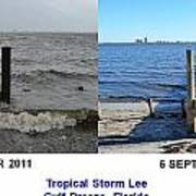 Tropical Storm Lee Difference A Day Makes Art Print by Jeff at JSJ Photography