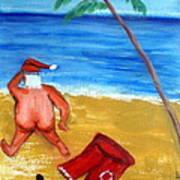tropical Xmas Art Print