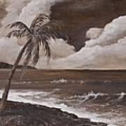 Tropics In Brown Art Print
