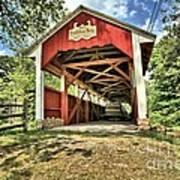 Trostle Town Covered Bridge Art Print