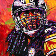 Troy Polamalu Art Print by Maria Arango