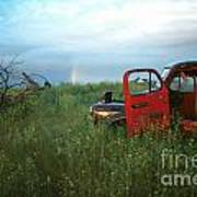 Truck And Rainbow Art Print