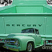 Truck In Tailgate-hdr Art Print
