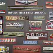 Trucks That Built America Art Print