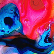 True Colors - Vibrant Pink And Blue Painting Art Art Print