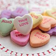 True Love Valentine Candy Hearts Art Print